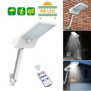 48-LED-a-Distance-Solaire-Clair-Detecteur-de-Mouvement-Pir-IP65-Exterieur-Jardin