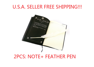 DEATH Note book /& Feather Pen 2PCS Writing Journal Anime Theme Cosplay Book