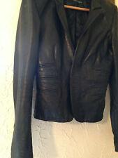 Authentic Nero AGNELLI Pelle RARO DSQUARED giacca in pelle 46 UK 10-12 DSQUARED 2
