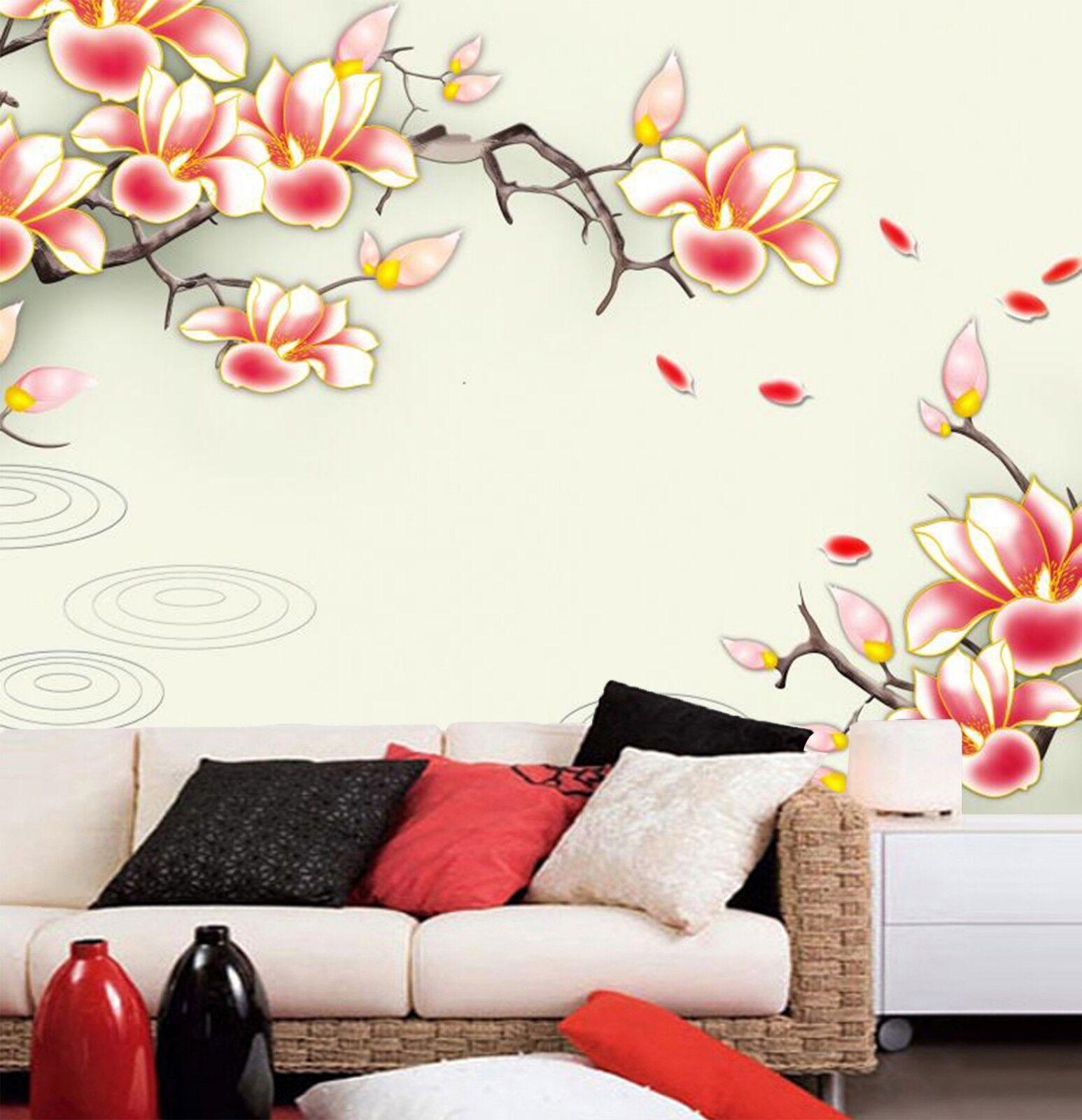3D rot Flower 984 Wallpaper Mural Wall Print Wall Wallpaper Murals US Carly
