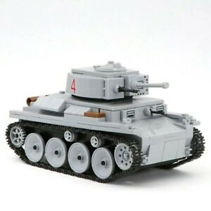 Lego-WW2-Tank-Military-LT-38-Soldier-Char-D-039-assaut-Allemand-Vehicule-toy-figure