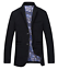 Hommes-Blazer-Loisirs-Veste-De-Sport-Casual-Costume-Veste-Business-Regular-Fit-Noir miniature 1