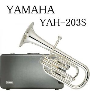 YAMAHA-Alto-Horn-Eb-3-Piston-Top-Action-YAH-203S-Silver-Plated-Brand-New