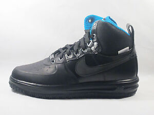 ORIGINAL NIKE AIR LUNAR FORCE 1 SNEAKERBOOT BLACK LEATHER TRAINERS ... aa53450f5c