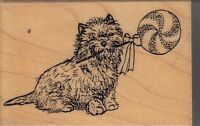 Pinwheel Cairn Catch A Falling Wood Mounted Rubber Stamp 1 1/2x 2 1/2