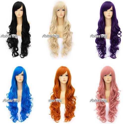 Cosplay Manga 80cm Lolita Ladieshair Kawaii Perücke Wig Beauty Stylish Pony Haar