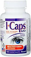 4 Pack Alcon Icaps Multivitamin Eye Vitamin & Mineral Support 100 Tablets on Sale