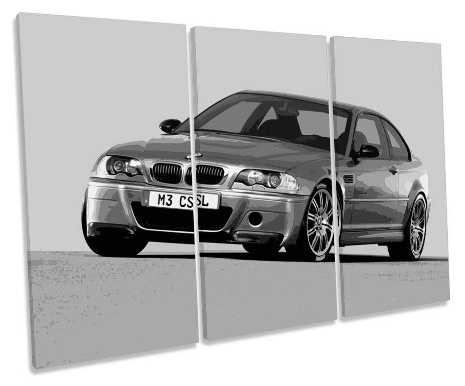 BMW M3 CSL Coche BW agudos LONA pa rojo rojo rojo  arte cuadro enmarcado cuadro 13d4ae