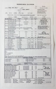 ONE-TREE-HILL-set-used-CALL-SHEET-Season-1-Episode-11