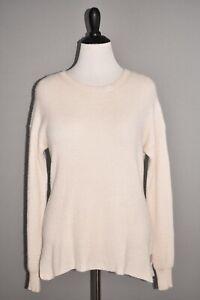NILI LOTAN NEW $495 Hadis Cashmere Sweater in Ivory Long Sleeve Medium