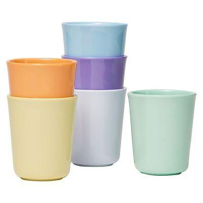 NEW Barel Designs Barel Everyday Melamine Pastel Beaker, 200ml (Set of 6)