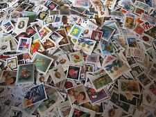 LOT OF 1000 BULK USED/CANCELLED U.S. POSTAGE STAMPS ON PAPER