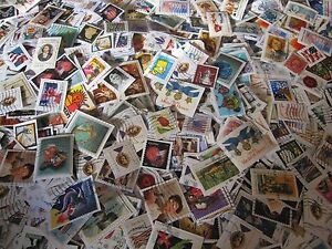 lot of 1000 bulk used cancelled u s postage stamps on paper ebay