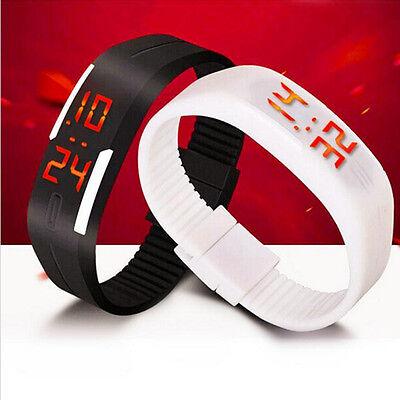 HOT SELL Mens Womens LED Rubber Date Watch Sports Bracelet Digital Wrist Watch