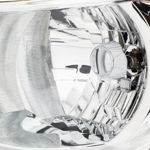 CHROME HOUSING CLEAR CORNER HEADLIGHT FOR 15-17 COLORADO PASSENGER/&DRIVER SIDE