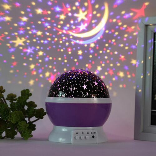 LED Lamp Auto Rotating Projector Night Light Birthday Party Room Decoration