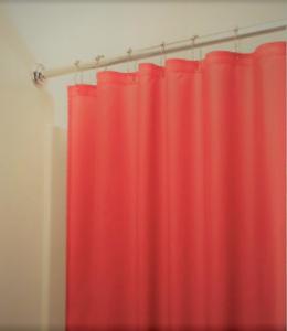 Image Is Loading PEVA Orange Shower Curtain Liner W Magnets Eco