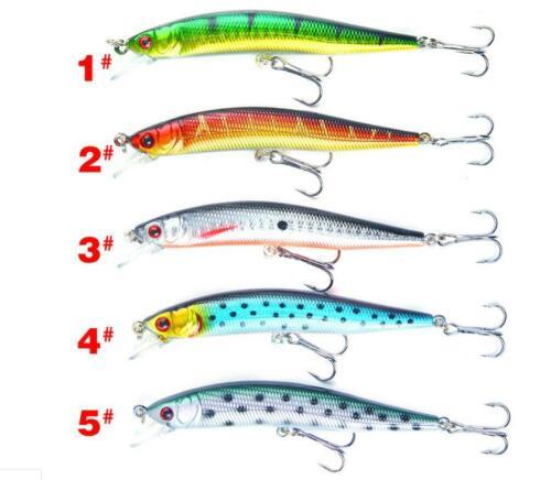 10cm Lots Fishing Lures Crankbaits Hooks Minnow Baits Tackle Fish Crank baits