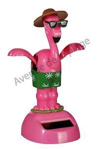Figurine flamant rose solaire dansant achat vente déco véhicule pas ... 3fc38f94d60a