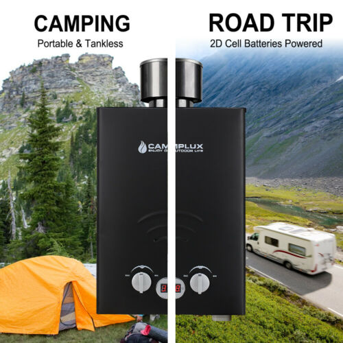 Camplux Instant Propane Gas Boiler Tankless LPG Gas Water Heater Camping RV 6L