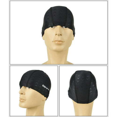 Waterproof Fabric Protect Ears Long Hair Sports Swim Pool Hat Shark Swimming~GQ