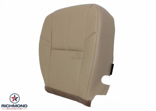 Driver Side Bottom Leather Seat Cover TAN 2010 Chevy Silverado LT LS LTZ Z71