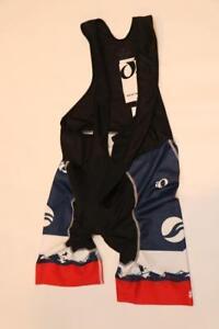 New-Pearl-Izumi-Elite-Bib-Shorts-Giant-Black-Blue-Men-039-s-XS-Road-Bike-Cycling-Pad