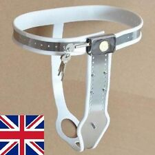Full Female Chastity Belt/Device Stainless Steal Heavy Duty WHITE 65 - 90cms