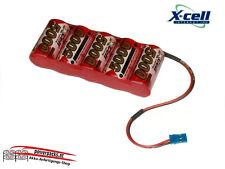 Leistungsstärkste Ni-Mh Empfängerakku XCell SCR 6V5000 mAh, Stecker frei wählen
