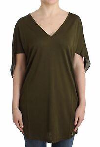 NWT $180 JOHN GALLIANO Green Top Short Sleeved Blouse Tank T-Shirt Rayon XS/US 4