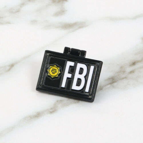 Enamel Brooch Badge Pin Cartoon FBI ID Card The Simpsons For Backpacks Clothes