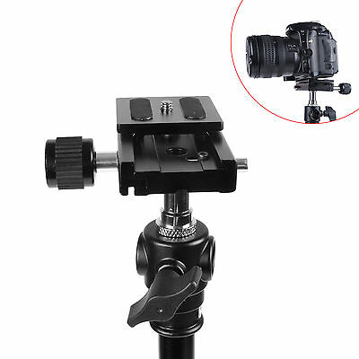 Brand New Camera QR Quick Release Plate And Clamp For Ball Head Monopod Tripod