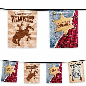 6m-Plastic-Bunting-Wild-West-Sheriff-Cowboy-Rodeo-Banner-Garland-Party-Decor