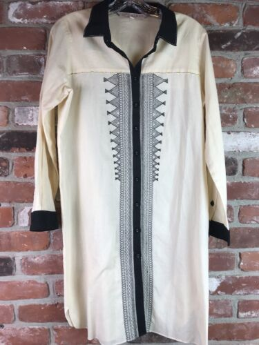 Ritu Kumar Silk Blend Embroidered Button Down Tuni