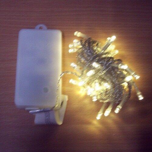 Timer außen BA11464 xmas 50er LED Lichterkette 4,9m warmweiß Batterie