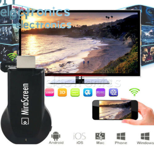 AnyCast WiFi Dongle Receiver 1080P HDM TV Stick DLNA Airplay MiracastUS