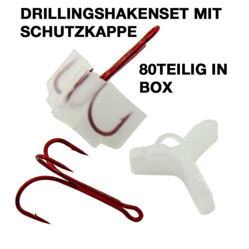 Drillingshaken-Set mit SchutzBox80 Stück