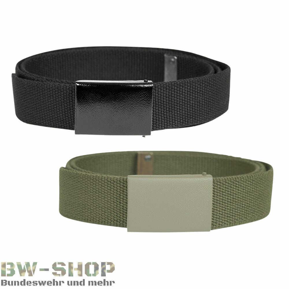 Bundeswehr Belt Textile Olive & Black New Cotton Pants Belt Army ARMY FIELD BELT