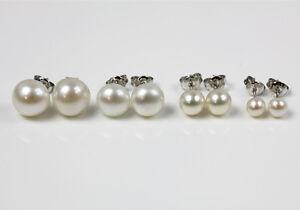 Zucht-Suesswasser-Perlen-925-Sterling-Silber-Ohrringe-Ohrstecker-Ohrschmuck-4-10mm