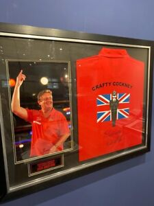 Large Eric Bristow Signed Shirt And Photograph