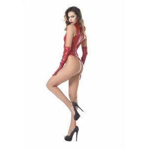 Patrice-Catanzaro-Manon-Body-string-super-sexy-en-vinyle-rouge-brillant