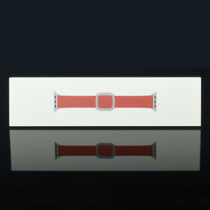 Apple Watch 38mm 40mm Series 1 2 3 4 5 6 Leather Modern Band - Ruby Red M - L