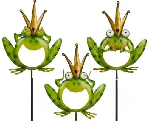 Gartenstecker Frosch Frösche Blumenstecker Garten Teich Teichdeko Gartendeko