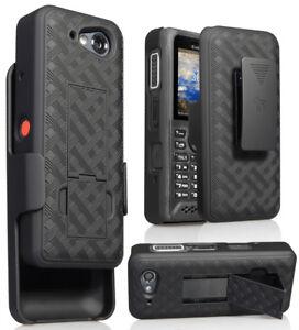Black-Kickstand-Case-Cover-Belt-Clip-Holster-for-Kyocera-DuraTR-E4750