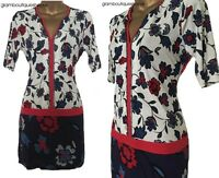 BN LADIES NEXT BLUE FLORAL PRINT SEQUIN TUNIC TOP BLOUSE SIZE 8~12 ONLY £14.99