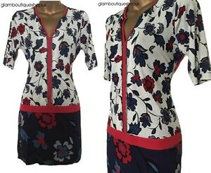 BN-LADIES-NEXT-BLUE-FLORAL-PRINT-SEQUIN-TUNIC-TOP-BLOUSE-SIZE-8-12-ONLY-11-99