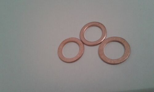 3 Stück Aluminiumring Alu Dichtring Dichtung  14x18x1,5 mm DIN 7603 Form A
