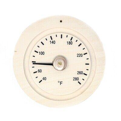 Aleko Round Pine Wood Sauna Thermometer Gage In Fahrenheit 649870027146 Ebay