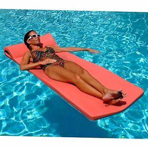 Details about Adults Swimming Pool Float Headrest Foam Water Mattress  Floating Mat Beach Raft