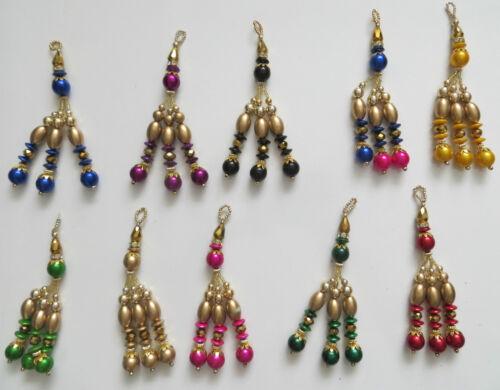 1 colore oro latkan Ciondoli alla Nappa Camicetta Sari Sari Dupatta da Sposa Vestito latkans